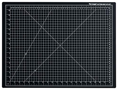 "Dahle Vantage 10672 Self-Healing 5-Layer Cutting Mat Perfect for Crafts and Sewing 24"" x 18"" Black Mat"