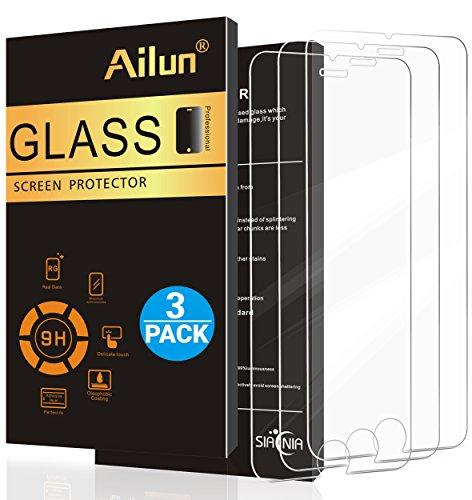 Ailun 3 Stück Panzerglas für iPhone 8 Plus / 7 Plus / 6s Plus / 6 Plus, 5,5 Zoll Gehärtetes Glas Schutzfolie Displayschutzfolie 9H 0,25mm Anti-Kratzen Anti-Fingerabdruck, Screen Protector Glass