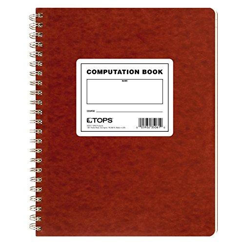 TOPS Rechenbuch, 29,2 x 24,1 cm, doppelter Draht, 152 nummerierte Seiten, kariert, 76 Blatt, Buff, (35061)