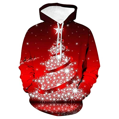 x8jdieu3 Autumn and Winter Christmas Hoodie 3D Digital Print Hoodie Large Size Baseball Uniform Loose Warm Sweatshirt