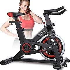 Dripex rower treningowy ergometr home trainer Ciągła regulacja rezystancji z monitorem tętna duża bezwładnościowa waga użytkownika koła zamachowego do 150 kg