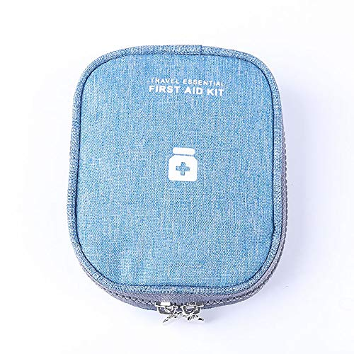 ArtMed Mini Portable First Aid Kit Empty Bag for Outdoor Travel Office Home First Aid Kit Hiking Camping Emergency Kit Best Survival Medical Organizer (Sky Blue)