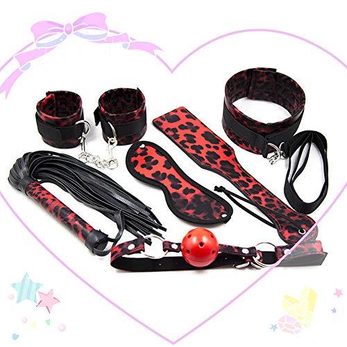Banda elástica de cinturón de tensión Deportivo con Estampado de Leopardo Rojo de 6 Piezas para Parejas