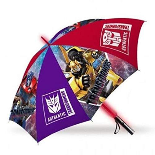 Kids Paraplu met LED-verlichting, 45 cm, automatische paraplu, klassiek, 80 cm, meerkleurig
