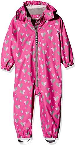Racoon Baby-Mädchen PUK Regenanzug (Wassersäule 5000) Regenjacke, Mehrfarbig (Rose Violet Ros), 80