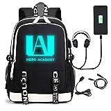 My Hero Luminous Backpack Academia Cosplay with USB...