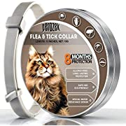 LOVATIC Cats Flea and Tick Collar - 8-Month Flea Treatment Cat Collar - Hypoallergenic, Adjustable & Waterproof Tick Prevention - Natural Essential Oil Extracts