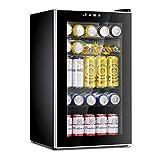Antarctic Star Beverage Refrigerator Cooler-85 Can Mini Fridge Glass Door for Soda Beer Wine...