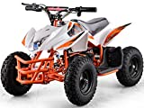 Titan Outdoor Kids Children 24V White Mini Quad ATV Dirt Motor Bike Electric Battery Powered