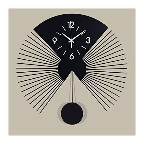 liushop Reloj De Pared Restaurante en Forma de fanático Decoración de la Sala de la Pared Reloj de Pared Creativo Reloj de Pared Dormitorio Digital Reloj de Pared Batería Desarrollado Decoración