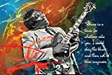 Riley B King Blues Singer Guitarist Songwriter Art Print Poster Play The Blues Quote 24x36 inch