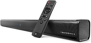 TaoTronics ホームシアター スピーカー Bluetooth サウンドバー 40W出力 TV スピーカー Bluetooth 5.0/AUX/OPT 接続対応 2.0ch 壁掛け可 リモートコントロール付 TT-SK023