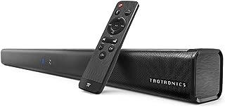 TaoTronics ホームシアター スピーカー Bluetooth サウンドバー 40W出力 TV スピーカー Bluetooth 4.2/AUX/OPT 接続対応 2.0ch 壁掛け可 リモートコントロール付 TT-SK023