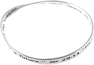 Dicksons for I Know The Plans I Have for You Mobius Silver-Plated Women`s Bangle Bracelet