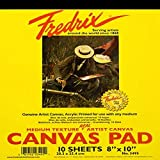 Fredrix 3495 Canvas Pad, 8' x 10' Canvas, Primed and Ready to Paint, Sturd, Can be Mounted When Dry, 10 Sheets per Pad, White