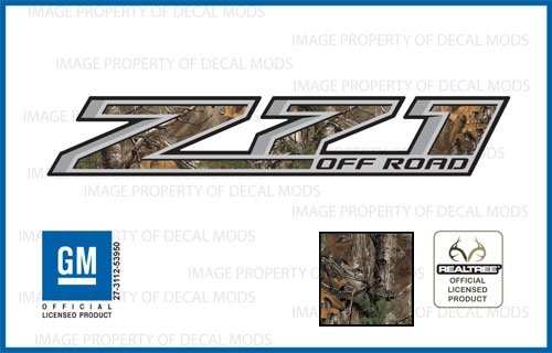 Decal Mods Z71 Offroad Truck Decals Stickers fits Chevy Silverado Realtree - XTRABROWN (2014-2017) Bedside (Set of 2)