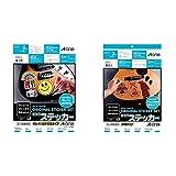 【セット買い】【Amazon.co.jp限定】 エーワン 手作りステッカー はがせるタイプ 28874タイプ 5セットパック & 手作りステッカー 透明 3セット 28873