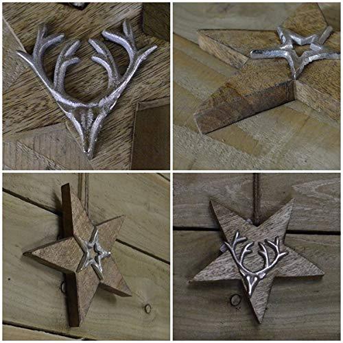 Pays Primitif Rusty Bo/îte m/étal perfor/é /étoile /à tartelette de cire /électrique chaud rustique vintage Home D/écor CVHOMEDECO