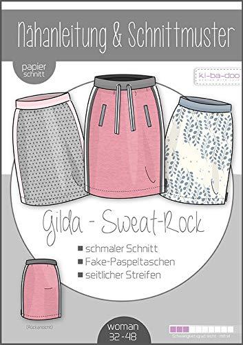 Schnittmuster kibadoo Sweat Joggin-Rock Gilda Damen Papierschnittmuster