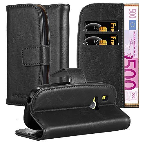 Cadorabo Hülle für Nokia 3310 in Graphit SCHWARZ – Handyhülle mit Magnetverschluss, Standfunktion & Kartenfach – Hülle Cover Schutzhülle Etui Tasche Book Klapp Style