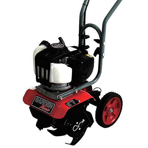 GardenTrax Mini Cultivator Tiller w/4-Cycle Powerful 38cc Red