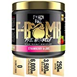 Pre Workout | Build Muscle | Burn Fat | Increase Strength and Performance | Enhance Focus | Reduce Fatigue | 250mg Caffeine | 6,000mg L-Citrulline | 3,500mg Beta-Alanine | Força Fuel F-Bomb