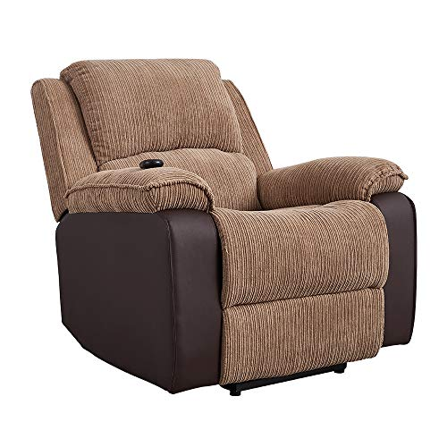 Panana Electric Rise Recliner Jumbo Cord Fabric Reclining Armchair Lounge Home Recline Chair for Living Room Bedroom, Electric Lift Riser Armchair (Brown)
