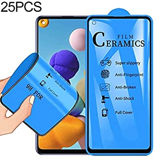 Screen Protector Foils 25 PCS for Samsung Galaxy A21s 2.5D Full Glue Full Cover Ceramics Film Mobile Communication Accesso...