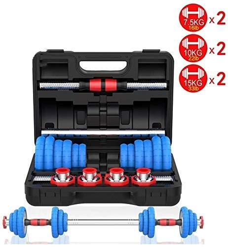 7.5KGX2 Plattierung Hantel-Set mit Lifting Adjustable Hexagon Gummi Gewicht Fitness Hantel Ergonomischer Griff Home Fitness Sporttraining Gewicht (Size : 10KGX2)