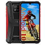 Ulefone Armor 8 Rugged Smartphone Unlocked, Android 10 Helio P60 Octa-core 4GB + 64GB ROM Mobile Phone, 16MP Triple Rear Camera, 6.1' HD+ Display 5580mAh Battery Dual SIM 4G Rugged Cell Phones -Red
