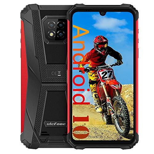 """Ulefone Armor 8 (2020) 4G Cellulari Economici- Helio P60 Octa Core 4 GB RAM + 64 GB ROM, Fotocamera da 16 MP, 5580 mAh, HD + Schermo 6.1"""" Smartphone, Android 10 IP68 Resistente, NFC FM Rosso"""