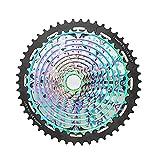 QWCZY Cassette de Velocidad de MTB de Bicicleta, Casete de Bicicleta de Velocidad de 11/12 9-50T Cassette Ultraligero del Arco Iris Solo Compatible con SRAM XD,MTB Cassette 12 Speed 9/50T