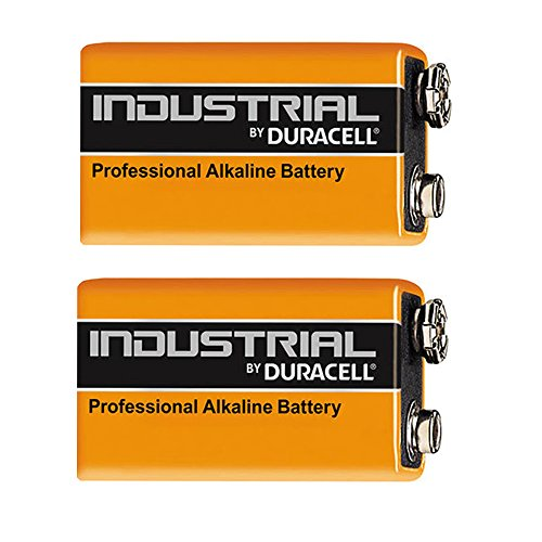 Duracell Industrial Alkaline Batterie Block 9V 6LF22, 2 pieces