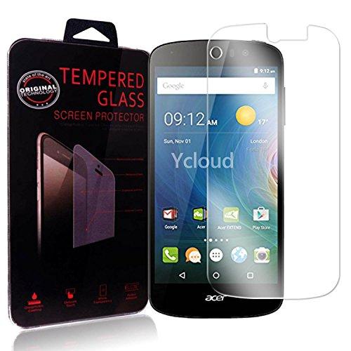 Ycloud Panzerglas Folie Schutzfolie Bildschirmschutzfolie für Acer Liquid Z530 screen protector mit Festigkeitgrad 9H, 0,26mm Ultra-Dünn, Abger&ete Kanten