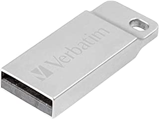 Verbatim Executive USB Stick aus Metall 16 GB I USB 2.0 I USB Speicherstick I für Laptop Notebook Ultrabook TV Autoradio I USB 2.0 Stick I Datenstick inklusive Schlüsselring I Silber