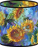 LampPix 10 Inch Table Lamp Shade - Sunflower Collage Canvas Desk Lampshade (Spider Fitting)