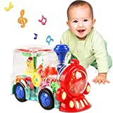 Noetoy Toys for 1 2 3 Year Old Boy, Baby Toys 6 to 12 Months Electric Train Toys for Boys Girls Toddlers with Cool Light & Sound Effect, Ideal Christmas Birthday Gifts for Kids Age 3 4 5 6