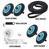 AMI PARTS Dryer Repair Kit- DC97-16782A Dryer Roller 6602-001655 Dryer Belt, DC93-00634A Dryer Idler...