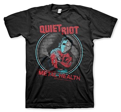 Quiet Riot Offizielles Lizenzprodukt Metal Health Herren T-Shirt (Schwarz), XX-Large