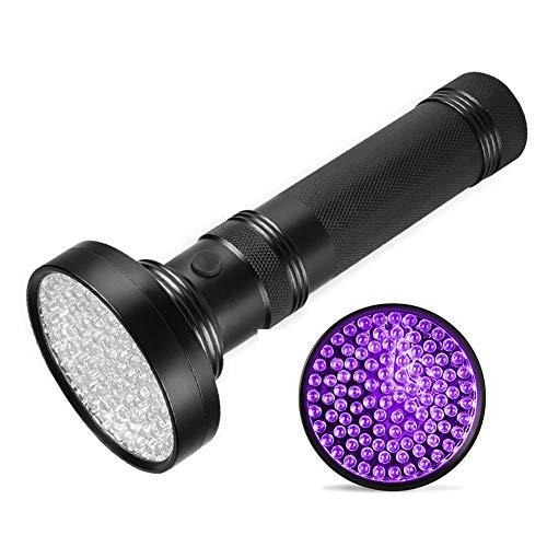 Canghai LED-UV-Taschenlampe, 100 LEDs, 395–400 nm, UV-Licht-Taschenlampe für Zuhause und im Freien