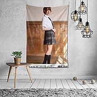 2021タペストリー 橋本奈々未(Hashimoto Nanami)ファッションの絶妙な印刷リビングルームの入り口寝室の背景壁の装飾カスタマイズされた壁掛け布 (60 * 40inch)