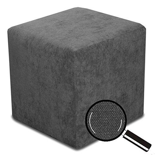 Best For Home Sitzhocker Sitzwürfel Bodenkissen Fußhocker 40x40x40 cm viele Farben (Anthrazit)