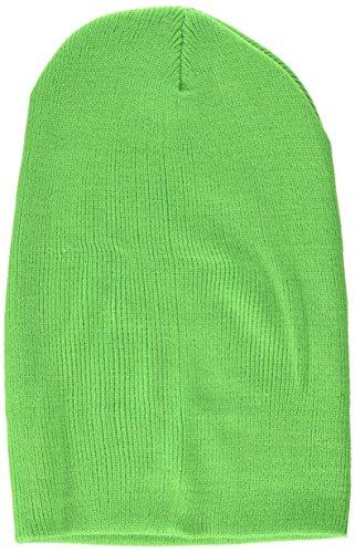 MSTRDS Bonnet Unisexe Basic Flap Version Longue. Taille Unique Vert Fluo