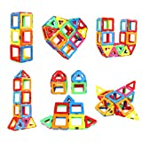 Upgraded Magnetic Blocks Tough Building Tiles STEM Toys for 3+ Year Old Boys and Girls Learning by Playing Games for Toddlers Kids Toys Compatible with Major Brands Building Blocks - Starter Set