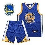 HANGESS Boy Mens Camisetas de Baloncesto y Pantalones Cortos Stephen Curry No.30 Warriors Summer Basketball Uniform Top y Short