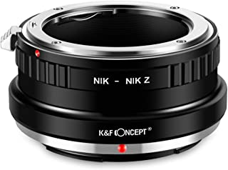 K&F Concept- Adaptador Lentes para Montar Nikon F/AI/AIS/D/AF-S a Nikon Z Z6 Z7 Mirrorless Camara (NIK-NIK Z)