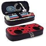 Estuche de lápices Ladybug Point Bolsa de almacenamiento Monedero Organizador Bolsa de cosméticos Bolsas de viaje con cremallera Estuche de bolsa multifuncional para escuela