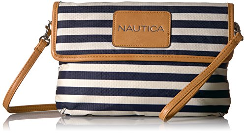 Nautica All RFID Blocking Mini, Indigo/Bone/Sand