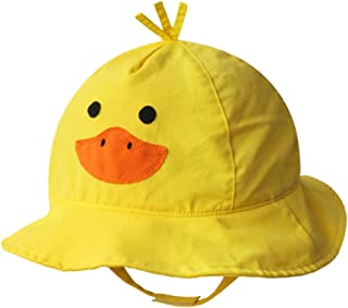 Cotton Breathable Animal Anti UV Sun Protection Bucket Hat with Chin Strap Outdoor Cap for Kids Baby Toddlers Girls/Boys