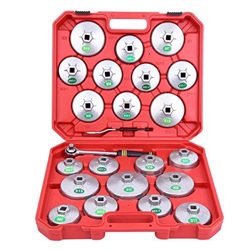 Ambianceo Ölfilterschlüssel Set Cup Typ Sockel Entfernung Garage Tool